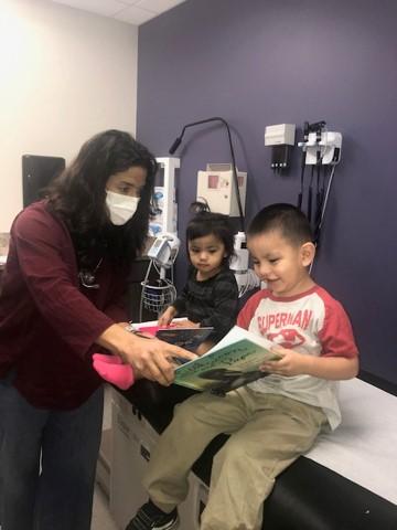 Dr. Archer and patients